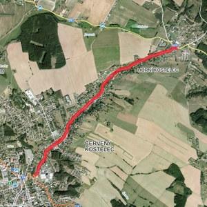 Rekonstrukce silnice III/5672 - ulice Jiráskova a Horní Kostelec