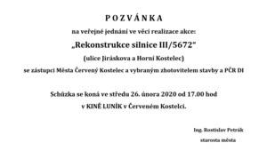 Pozvánka na veřejné jednání
