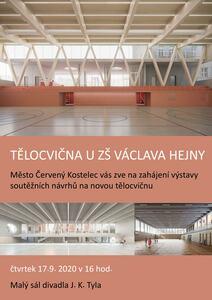 Vernisáž výstavy návrhů architektonické soutěže tělocvičny