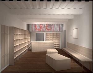 Rekonstrukce vstupní místnosti domku Boženy Němcové