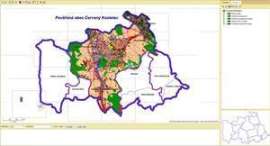 Digitální mapové podklady města a správních území